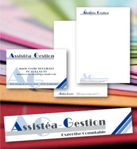 <strong>Assistéa Gestion :</strong> Têtes de lettre, carte de visite, Enseigne...