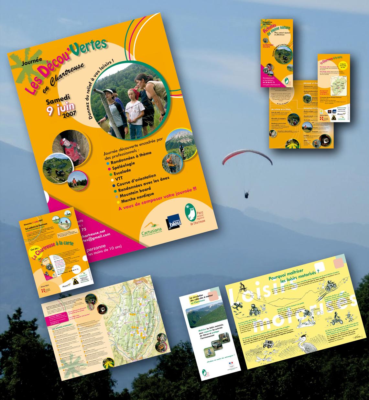 """<strong>Parc naturel régional de Chartreuse :</strong> Journées """"Les Décou'Vertes"""". Plaquette et dépliant."""
