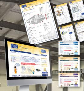 <strong>Groupe Caddif :</strong> Graphisme, Site web, catalogue électronique, fiches produits.
