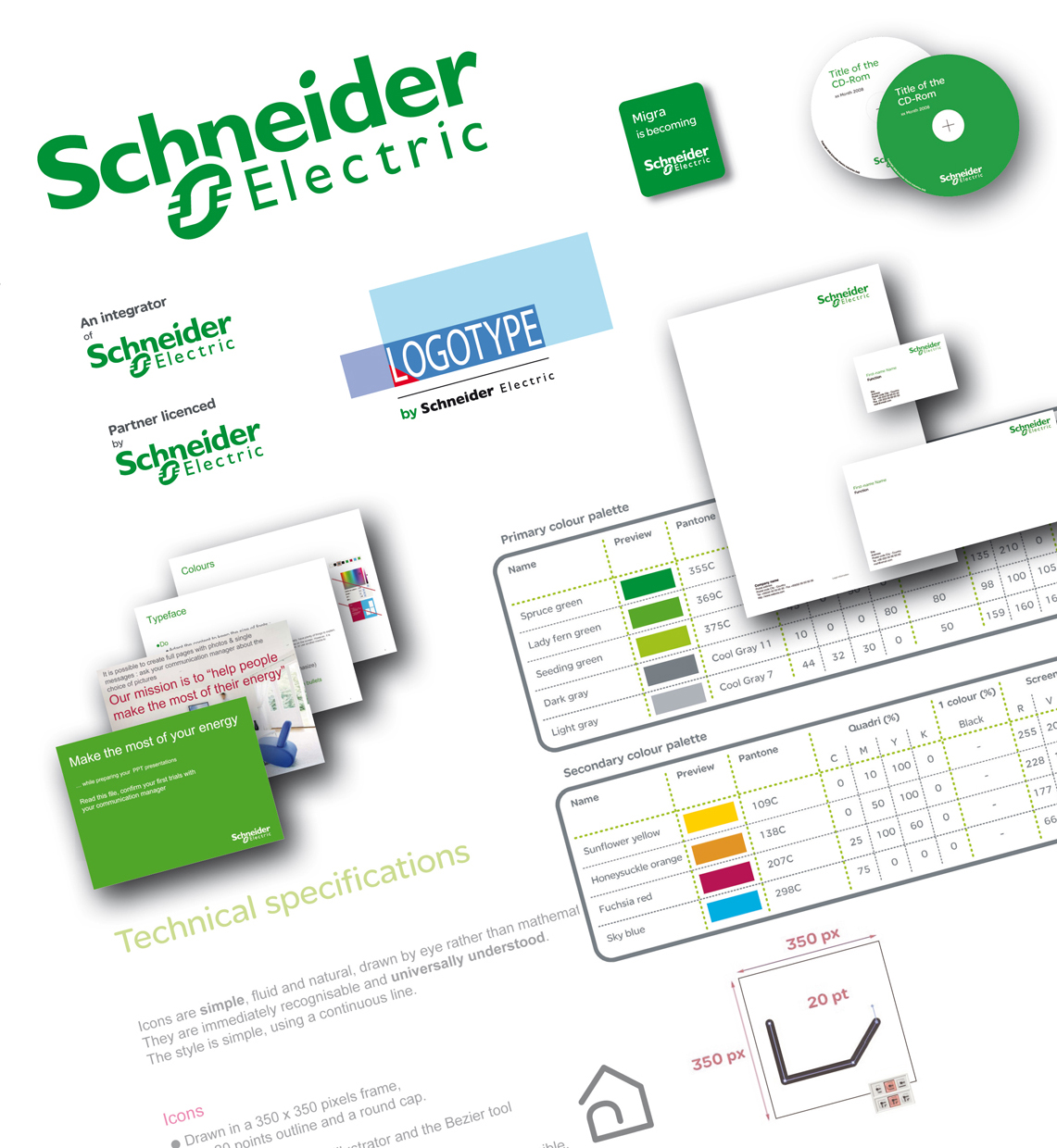 <strong>Schneider Electric - Communication :</strong> Charte graphique 2008. Mise en place, adaptation & diffusion.