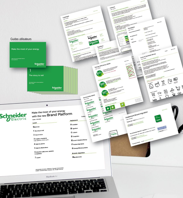 <strong>Schneider Electric - Communication :</strong> Charte graphique - Site Guide Utilisateurs (Intranet et Extranet).