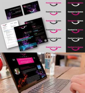 <strong>Content to Comm </strong> : EVOLUTION // Logo, charte graphique, carte de visite, plaquette, site web...